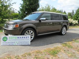 Used 2011 Ford Flex LIMITED, AWD, NAV PANO ROOF, INSP, FREE WARRANTY, FINANCE! for sale in Surrey, BC