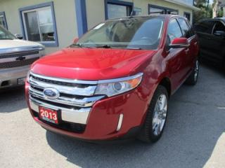 Used 2013 Ford Edge LOADED LIMITED EDITION 5 PASSENGER 3.5L - V6.. AWD.. LEATHER.. HEATED SEATS.. NAVIGATION.. PANORAMIC SUNROOF.. BACK-UP CAMERA.. for sale in Bradford, ON