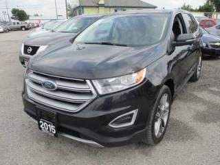 Used 2015 Ford Edge LOADED TITANIUM MODEL 5 PASSENGER 2.0L - ECO-BOOST.. AWD.. LEATHER.. HEATED/AC SEATS.. NAVIGATION.. PANORAMIC SUNROOF.. BLUETOOTH.. BACK-UP CAMERA.. for sale in Bradford, ON
