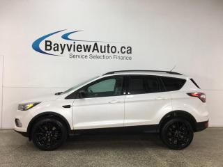 Used 2017 Ford Escape SE - 4WD! PANOROOF! NAV! HTD 1/2 LEATHER! BLACK ALLOYS! for sale in Belleville, ON