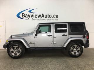 Used 2017 Jeep Wrangler Unlimited Sahara - ALLOYS! REM START! HTD LTHR! NAV! U-CONNECT! ALPINE! for sale in Belleville, ON