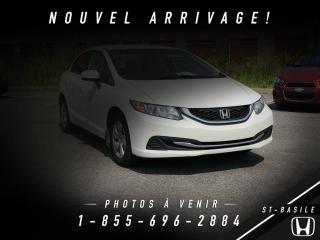 Used 2014 Honda Civic ** MANUEL + BLUETOOTH + CRUISE ** for sale in St-Basile-le-Grand, QC