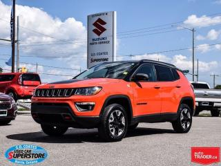 Used 2017 Jeep Compass Trailhawk 4x4 ~Nav ~Backup Cam ~Panoramic Roof for sale in Barrie, ON