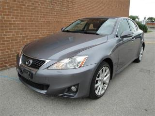 Used 2013 Lexus IS 250 AWD/NO ACCIDENTS 76.5K KM / BLUETOOTH /LEATHER for sale in Oakville, ON