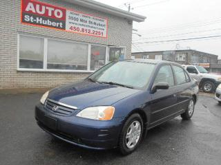 Used 2001 Honda Civic Berline 4 portes, boîte automatique - DX for sale in Saint-hubert, QC
