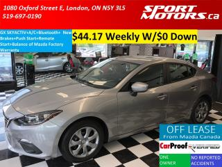 Used 2015 Mazda MAZDA3 GX SKYACTIV+A/C+Bluetooth+Remote Start+New Brakes for sale in London, ON