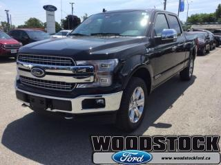 New 2018 Ford F-150 Lariat  502A, SUPERCREW, MOONROOF for sale in Woodstock, ON