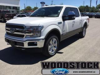 New 2018 Ford F-150 King Ranch  601A, SUPERCREW, MOONROOF for sale in Woodstock, ON