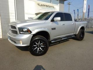 Used 2014 Dodge Ram 1500 Sport Crew 4x4, 6 Inch LIFT, 35's, Nav, Sunroof for sale in Langley, BC