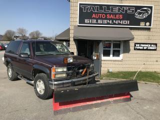 Used 1997 Chevrolet Tahoe W/ PLOW for sale in Kingston, ON