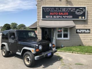 Used 2004 Jeep Wrangler TJ SE for sale in Kingston, ON