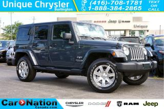 Used 2018 Jeep Wrangler UNLIMITED SAHARA| NAV| DUAL TOP| TRAILER TOW GRP for sale in Burlington, ON