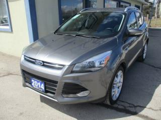 Used 2014 Ford Escape FOUR-WHEEL DRIVE TITANIUM MODEL 5 PASSENGER 2.0L - ECO-BOOST.. LEATHER.. HEATED SEATS.. NAVIGATION.. POWER SUNROOF.. BACK-UP CAMERA.. BLUETOOTH.. for sale in Bradford, ON