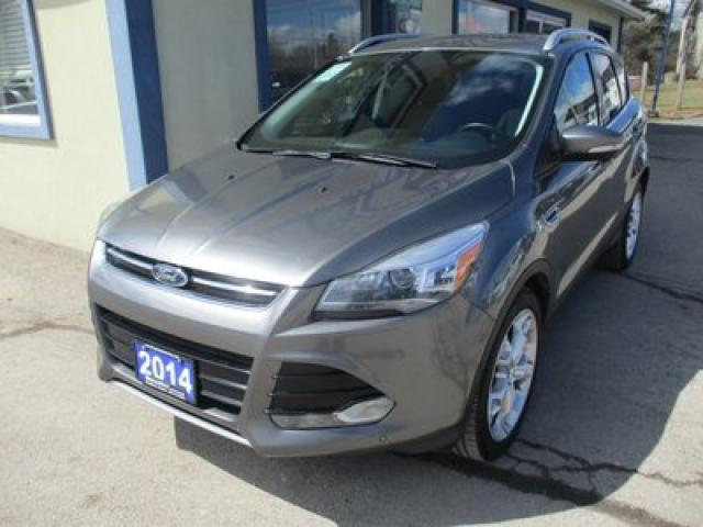 2014 Ford Escape FOUR-WHEEL DRIVE TITANIUM MODEL 5 PASSENGER 2.0L - ECO-BOOST.. LEATHER.. HEATED SEATS.. NAVIGATION.. POWER SUNROOF.. BACK-UP CAMERA.. BLUETOOTH..