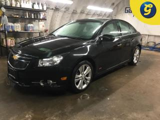 Used 2013 Chevrolet Cruze LTZ*NAVIGATION*SUNROOF*LEATHER*REVERSE CAMERA*HANDS-FREE PHONE/STEERING WHEEL CONTROL/VOICE RECOGNITION* TELESCOPIC STEERING WHEEL*CHILD LOCK WINDOWS* for sale in Cambridge, ON