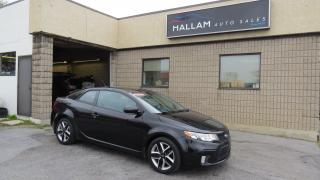 Used 2013 Kia Forte Koup 2.4L SX Power Sunroof, Black leather Interior, Heated Seats for sale in Kingston, ON