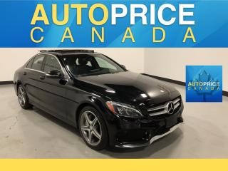 Used 2015 Mercedes-Benz C-Class SPORT PKG|NAVIGATION|PANROOF|ONE OWNER CLEAN CARPROOF for sale in Mississauga, ON