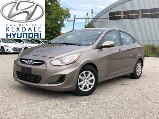 Used 2012 Hyundai Accent GLS, FINANCING AVAILABLE ON SITE for sale in Toronto, ON