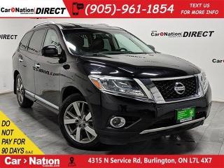 Used 2014 Nissan Pathfinder Platinum| 4X4| NAVI| LEATHER| for sale in Burlington, ON