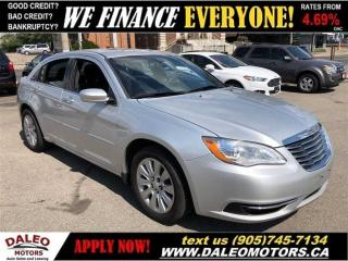 Used 2012 Chrysler 200 LX| MP3 CAPABILITY| HEATED MIRRORS| CRUISE CONTROL for sale in Hamilton, ON