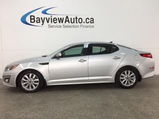 Used 2015 Kia Optima EX - ALLOYS! PANOROOF! HTD/AC LTHR! BSD! HTD STEERING WHEEL! for sale in Belleville, ON