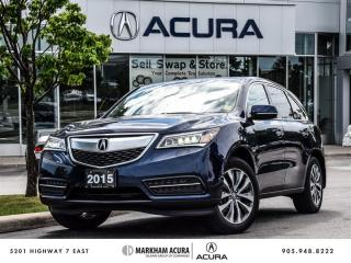 Used 2015 Acura MDX Navigation at - Blind Spot Indicators | Power Liftgate for sale in Markham, ON