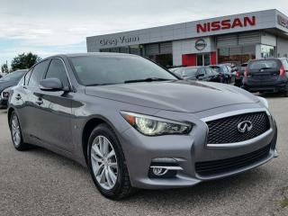 Used 2015 Infiniti Q50 Sport AWD w/all leather,NAV,climate control,rear cam,drive mode,pwr moonroof for sale in Cambridge, ON