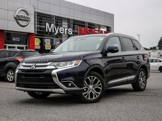 Used 2018 Mitsubishi Outlander S-AWC leather, reverse camera, heated seats and steering, electric seat, sunroof, intelligent key for sale in Orleans, ON