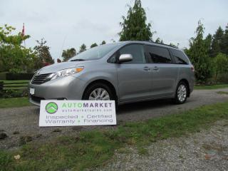 Used 2013 Toyota Sienna XLE, INSPECTED, WARRANTY & FINANCING! for sale in Surrey, BC