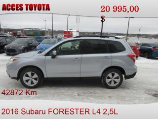 Used 2016 Subaru Forester for sale in Rouyn-Noranda, QC