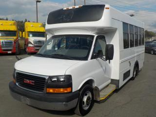 Used 2009 GMC Savana G3500 13 Passenger Bus Diesel with Seatbelts and Wheelchair Accessibility for sale in Burnaby, BC