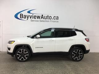 Used 2017 Jeep Compass Limited - NAV! PANOROOF! REM START! REV CAM! LEATHER! for sale in Belleville, ON