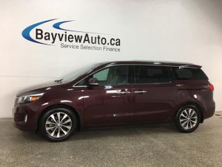 Used 2018 Kia Sedona SX+ - ALLOYS! HTD LTHR! REVERSE CAM! BSD! PWR SLIDERS! for sale in Belleville, ON