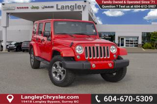 Used 2016 Jeep Wrangler Unlimited Sahara <B>*LOCAL *SINGLE OWNER<B> for sale in Surrey, BC