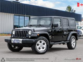 Used 2015 Jeep Wrangler Sahara,4X4,REMOVEABLE ROOF+DOORS for sale in Barrie, ON
