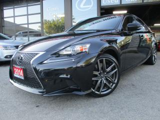 Used 2014 Lexus IS 350 AWD-F-SPORT-RED-LEATHER-NAVI-CAM-LOADED for sale in Scarborough, ON