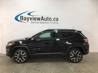 Used 2017 Jeep Compass Limited - REM START! PANOROOF! NAV! HTD LTHR! U-CONNECT! for sale in Belleville, ON