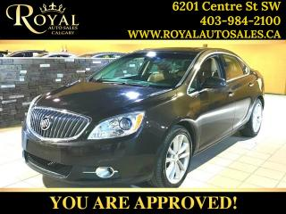 Used 2012 Buick Verano w/1SL LEATHER, SUNROOF, NAV, HEATED SEATS for sale in Calgary, AB