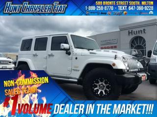 Used 2015 Jeep Wrangler Unlimited SAHARA/BIG TIRES/HOOD/LEATHER/NAV & MORE!!! for sale in Milton, ON