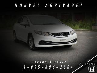 Used 2014 Honda Civic LX + CRUISE + BLUETOOTH + BAS KILO !! for sale in St-Basile-le-Grand, QC