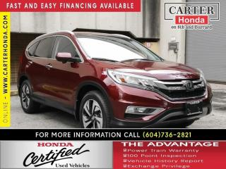 Used 2016 Honda CR-V Touring for sale in Vancouver, BC