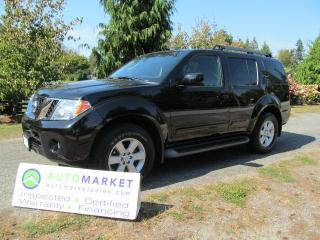 Used 2009 Nissan Pathfinder SE OFF ROAD, MOONROOF, INSP, FREE WARRANTY, FINANCING! for sale in Surrey, BC