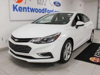 Used 2018 Chevrolet Cruze Premier cruze with heated seats and a back up camera for sale in Edmonton, AB