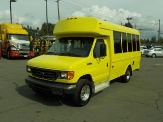 Used 2006 Ford Econoline E-350 Super Duty 7 Passenger Bus Diesel with Wheelchair Accessibility and Seatbelts for sale in Burnaby, BC