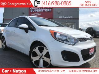 Used 2013 Kia Rio5 SX w/UVO | 6 SPD M/T | LEATHER | SUNROOF | for sale in Georgetown, ON