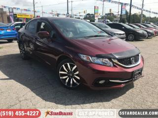 Used 2015 Honda Civic Touring   NAV   LEATHER   ROOF   CAM for sale in London, ON