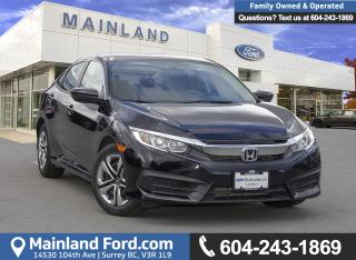 Used 2017 Honda Civic LX *ACCIDENT FREE* *LOCALLY DRIVEN* for sale in Surrey, BC