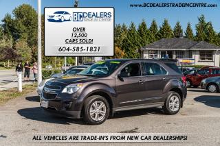 Used 2013 Chevrolet Equinox LS AWD, Only 52,000 kms, Bluetooth, Alloys, Clean! for sale in Surrey, BC