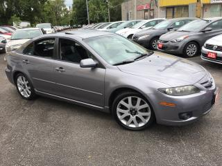 Used 2006 Mazda MAZDA6 GT/ AUTO/ LEATHER/ SUNROOF/ ALLOYS/ LOADED! for sale in Scarborough, ON