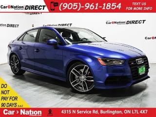 Used 2016 Audi S3 2.0T Technik quattro| NAVI| SUNROOF| for sale in Burlington, ON